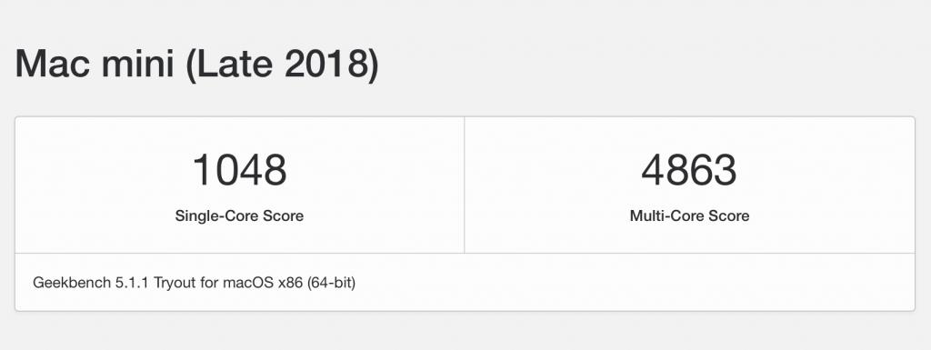mac mini 2020 メモリ換装 ベンチマーク